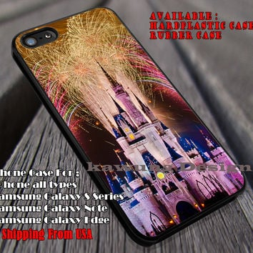 Fireworks Over Castle, Disney Land, Castle, Cinderella Castle, Night Fireworks, Beautiful, case/cover for iPhone 4/4s/5/5c/6/6+/6s/6s+ Samsung Galaxy S4/S5/S6/Edge/Edge+ NOTE 3/4/5 #cartoon #animated #disney #cinderella ii