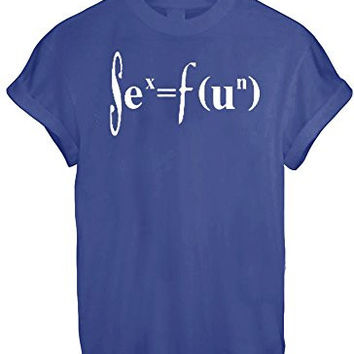 SIENCE CHEMISTRY MATHS FUN GEED NERD MEN WOMEN UNISEX T SHIRT TOP TEE NEW - Blue