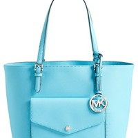 MICHAEL Michael Kors 'Jet Set - Large' Saffiano Leather Snap Pocket Tote (Nordstrom Exclusive)