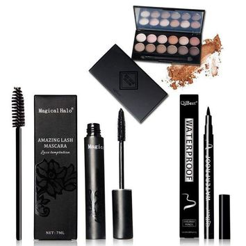 LMF57D QiBest 15Pcs/Set Mascara Eyeliner Eyeshadow Eyelash Make Brush  Professional Makeup Set Cosmetics Tool Kit Cosmetics Gift Set