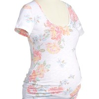 Maternity Patterned Scoop-Neck Tees
