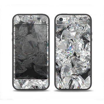 The Scattered Diamonds Skin Set for the iPhone 5-5s Skech Glow Case