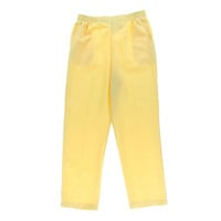 Alfred Dunner Womens Solid Flat Front Casual Pants