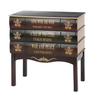 Library Wood Book 3 Drawer Chest