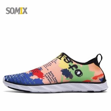 Somix Men's Summer Running Shoes Breathable Sneakers Outdoor Sport Shoes for Men 2017 Beach Water Shoes Male Trainers Plus Size