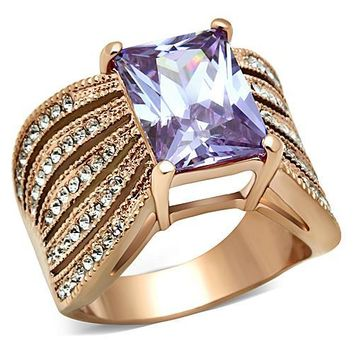 Chinese Bellflower Amethyst Stone Ring