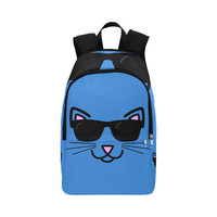 Cool Cat With Sunglasses Fabric Backpack for Adult (Model 1659)   ID: D1734618