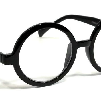 RETRO FASHION BOLD SMART GEEK STYLE CLEAR LENS GLASSES ROUND FRAME