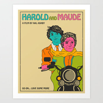 Harold and Maude Art Print by Jazzberry Blue