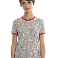 Disney Big Hero 6 Baymax Print Girls Ringer T-Shirt