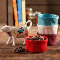 The Pioneer Woman Flea Market 5-Piece Serving Set, 4 Ramekins in Assorted Colors and Cow Creamer - Walmart.com