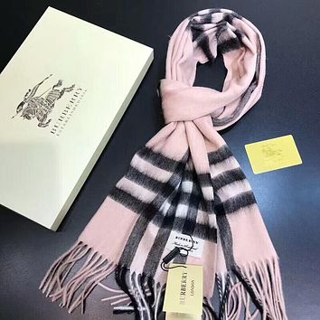 Burberry Winter Classic Popular Women Men Warmer Cashmere Cape Scarf Scarves Shawl Accessories