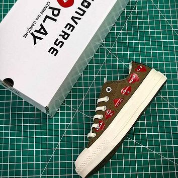CDG PLAY x Converse Chuck Taylor Material OX Addict Vibram Low Sneakers