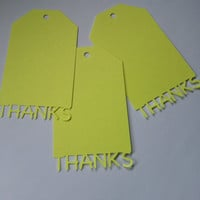 "SET OF12 ""Thanks"" Paper Label Price Hang Gift Tag"