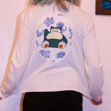 pokemon cream cardigan snorlax