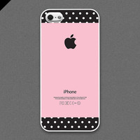 iPhone 5 case - Pink and Dots Pattern cases - also available in iPhone 4 and iPhone 4S size