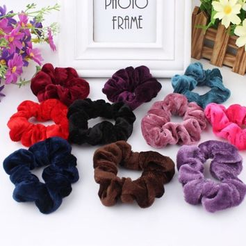 Scrunchies Velvet Ponytail Holder,Hair Accessories,Elastic Hair Bands,Hair Scrunchy
