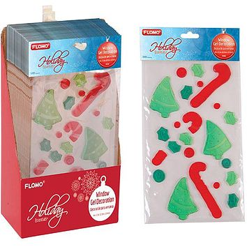 Christmas Window Gel Decoration - 18 Units