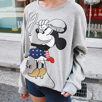 Mickey mouse printed gray hoodie, women t shirt, mickeymouse, tee, sweatshirt