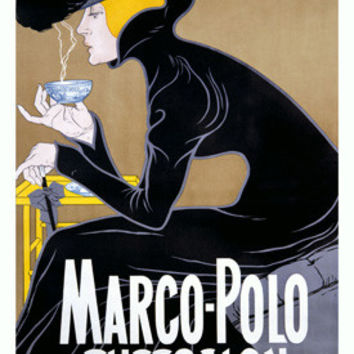 Munchen Marco Polo Theesalon Advertisement Fine Art Print