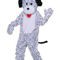 Forum Deluxe Plush Dog Mascot Dalmatian Costume, Black/White, One Size