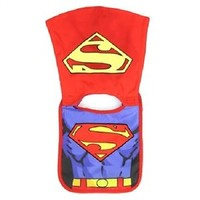SUPERMAN Baby Bib With Cape, One Size Fits Most, Licensed DC Comics Merchandise