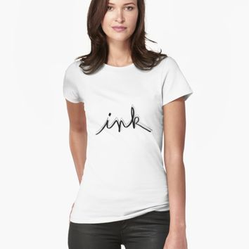"'""ink"" hand drawn typography' T-Shirt by BillOwenArt"