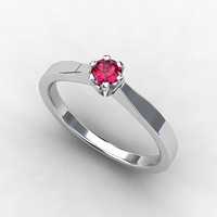Pink diamond ring, White gold, engagement ring, pink engagement, solitaire, thin engagement ring, unique, fancy diamond