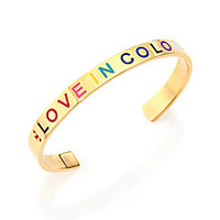 Tory Burch - Love In Color T Cuff Bracelet/Goldtone - Saks Fifth Avenue Mobile