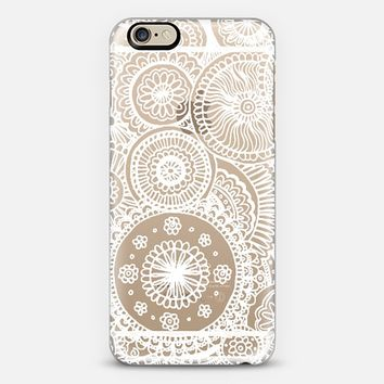 White Circles Lace Doodle iPhone 6 case by Laurel Mae | Casetify
