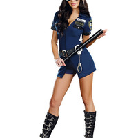3 Pcs New Ladies Police Fancy Halloween Costume Sexy Outfit Woman Cosplay Sexy Police Costumes for Women