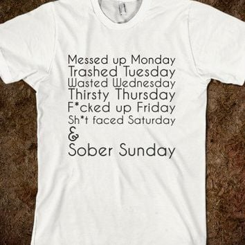 Drunk Days of the Week - teeshirttime