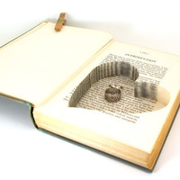 Wedding - Vintage Hollow Book Safe with Heart - Three Men