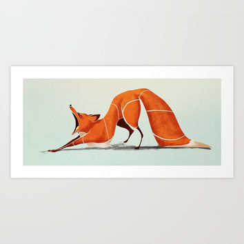 Fox Art Print by Saeiart