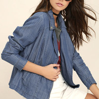 Cloudless Sky Blue Chambray Jacket