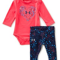 Under Armour Baby Girls Newborn-12 Months Astro Heart Long-Sleeve Bodysuit & Printed Pant Set | Dillards