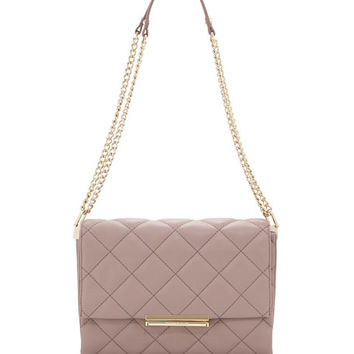 kate spade new york emerson place lenia quilted shoulder bag, porcini