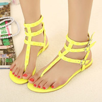 Candy Color Sandals with Cute Studs for Women KH061621