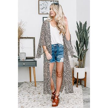 Rule The Day Cheetah Print Duster Kimono