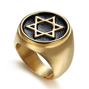 Star of David Signet Rings for Men
