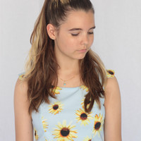 Danica Sunflower Crop Top
