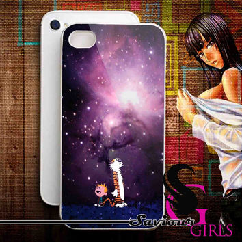 Calvin and Hobbes Sky for iPhone 4/4S, 5/5S, 5C and Samsung Galaxy S3, S4 - Rubber and Plastic Case
