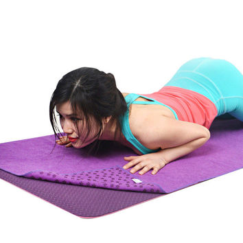 Microfiber Nonskid Titoni Yoga Towel/Mat 24 x 72inch with Carry Bag