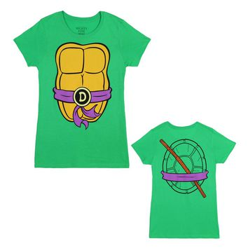 "Teenage Mutant Ninja Turtles TMNT ""I Am"" Costume Licensed Womens Junior T-Shirts"
