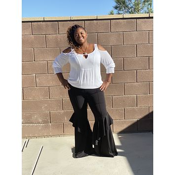 New Plus Size Flare Ruffles Bell Bottoms