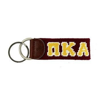 Pi Kappa Alpha Needlepoint Key Fob in Maroon by Smathers & Branson