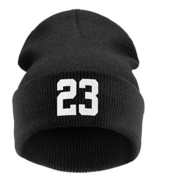 "men winter Beanie ""23"" JORDAN BULLS SPORTS Men Women Basketball CAP Beanie Hat Hiphop"
