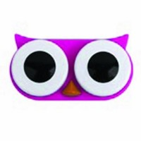 Kikkerland Retro Owl Contact Lens Case-Pink