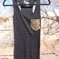 Cheetah/Leopard Pocket Tee Tank
