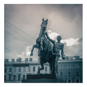 """The Horse Tamers"", St.Petersburg, Russia. Acrylic Print"